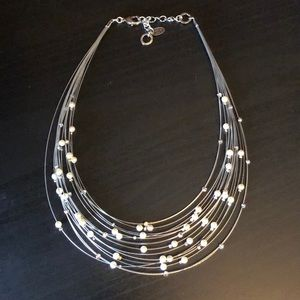 Jewelry - Never worn pearl and Swarovski crystal necklace